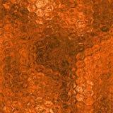 Sömlös orange folie och Tileable bakgrundstextur Arkivfoton