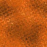 Sömlös orange folie och Tileable bakgrundstextur Arkivbild