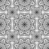 Sömlös, orientalisk geometrisk modell på en vit bakgrund Royaltyfri Foto