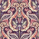 Sömlös Paisley bakgrund, blom- modell Färgrikt dekorativt royaltyfri illustrationer