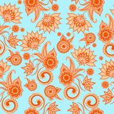 Sömlös paisley modell för textildesign stock illustrationer