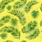 Sömlös palmbladmodell för tappning vektor illustrationer