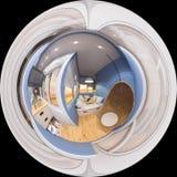 Sömlös panorama sfäriska 360 av balkongen Arkivfoto