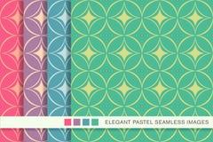 Sömlös pastellfärgad geometri för kors för kurva för bakgrundsuppsättningrunda royaltyfri illustrationer