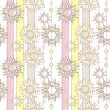 Sömlös pastellfärgad retro abstrakt stjärnabakgrund Textil och vägg royaltyfri illustrationer