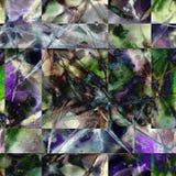 Sömlös patchworkmodell för vattenfärg Arkivfoto