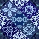 Sömlös patchworkmodell för vektor orientalisk eller ryssdesign Arkivbild