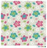 Sömlös patterm för hibiskusblomma Royaltyfria Foton