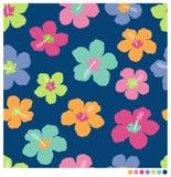 Sömlös patterm för hibiskusblomma Royaltyfria Bilder