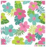 Sömlös patterm för hibiskusblomma Royaltyfri Fotografi