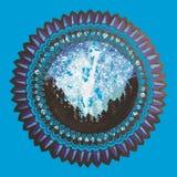 Sömlös patterm för Mandala Fotografering för Bildbyråer