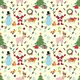 Sömlös pattern_2_for-jul och nya år tema i stylen royaltyfri illustrationer