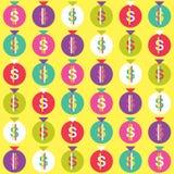 Sömlös pengarpåsemodell Arkivbild
