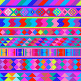 Sömlös peruansk textur royaltyfri illustrationer
