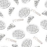 Sömlös pizza Arkivbilder