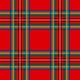 Sömlös pläd för tartanmodellbakgrund Julgarnering, skotsk prydnad Royaltyfria Bilder