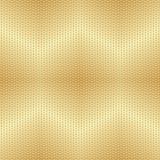 Sömlös prickig modell för skinande guld- sicksacklutningmetall royaltyfri illustrationer