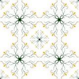 Sömlös prydnad i blom- stil royaltyfri bild