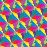 Sömlös psykedelisk flerfärgad abstrakt modell Arkivbild