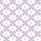 Sömlös purpurfärgad bakgrund för blommamodell Royaltyfri Fotografi