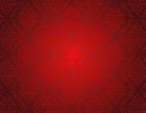 Sömlös röd damast modell Royaltyfria Foton