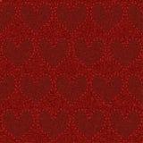 Sömlös röd grov bomullstvill Arkivbilder