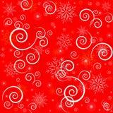 Sömlös röd modell för jul Fotografering för Bildbyråer