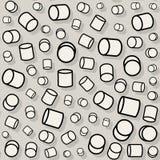 Sömlös röra för vektor som roterar den slumpmässiga skalacylindermodellen Arkivfoto