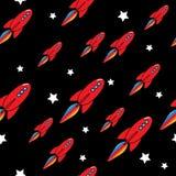 Sömlös raketmodell för vektor stock illustrationer