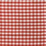 Sömlös randig vit och röd picknickhandduk Arkivbild