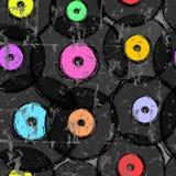 Sömlös retro bakgrund för vinylrekord Arkivfoto