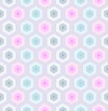 Sömlös retro honungskaka pattern-2 Arkivfoto