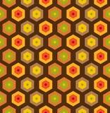 Sömlös retro honungskakamodell Arkivfoto