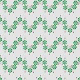 Sömlös retro modell för vektor med växt av släktet Trifoliumbladet royaltyfri foto