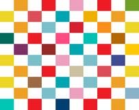 Sömlös Retro plan bakgrund för färgrika rektanglar vektor illustrationer
