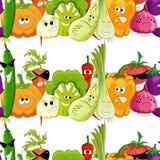 Sömlös rolig grönsakbakgrund Royaltyfri Bild