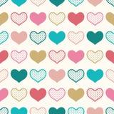 Sömlös rolig hjärtatapetbakgrund Fotografering för Bildbyråer