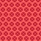 Sömlös rosa hjärtamodell Arkivfoto