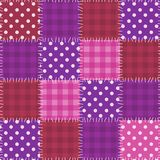 Sömlös rosa patchworkmodell Royaltyfria Bilder