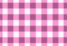 Sömlös rosa tartan för vektor, tartanmodell Royaltyfri Bild