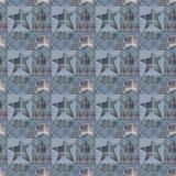 Sömlös rutig bakgrund för modell för ungepatchworkstjärnor Arkivbilder