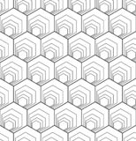 Sömlös sexhörningsmodell geometrisk textur stock illustrationer