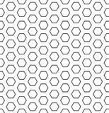 Sömlös sexhörningsmodell Vit och svart geometrisk textur och bakgrund royaltyfri illustrationer