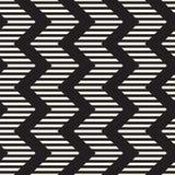 Sömlös sicksacklinje modell för vektor Abstrakt stilfull geometrisk bakgrund Upprepa gallerbakgrund royaltyfria bilder
