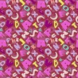 Sömlös skraj alfabettexturmodell Fotografering för Bildbyråer