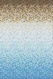 Sömlös slät övergång av färgmosaiken från blått till brunt Arkivbilder