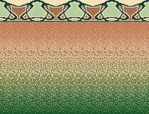 Sömlös slät övergång av färgmosaiken från brunt till gräsplan och dekoren i mosaik Royaltyfri Bild