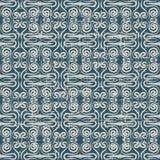 Sömlös sliten ut antik dragen spiral kalejdoskop för bakgrund 049_hand Arkivbilder