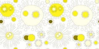 Sömlös solmodellbakgrund vektor illustrationer