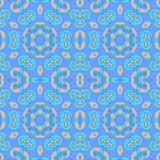 Sömlös spiral färg för modellblåttaprikos Fotografering för Bildbyråer